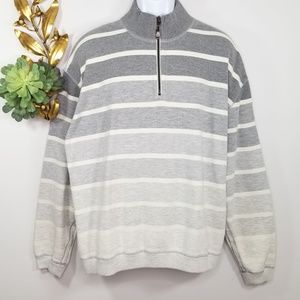 Tommy Bahama 1/4 Zip Striped Pullover Sweater XL